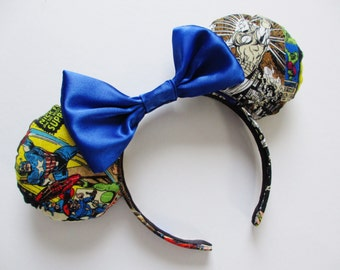 Marvel Superhero Comic Print Mouse Ears Headband