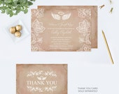 Angel Wings Invitation, Baptism Invitations, Baby Shower Invite, Pink Lace, First Communion, Religious, Christening, Halo, Heaven Sent, DIY