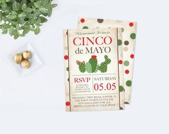 Cinco de Mayo Editable Invite, Mexican Fiesta Birthday Party Invitation, Instant Download, Mexican Fiesta Theme Editable Text PDF Invitation
