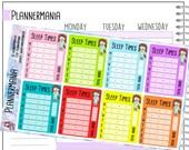 Sleep Time Stickers Full Box Planner Sticker foruse with Erin Condren LifePlanner™ Happy Planner Stickers Health Sticker Sidebar Sticker 479