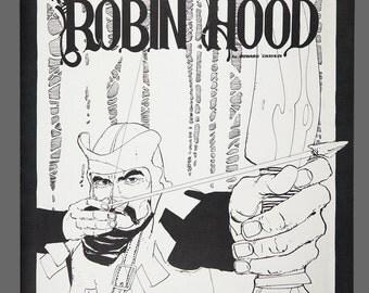 1978 Howard Chaykin Portfolio Cover Robin Hood Limited Edition 856/1000 Black & White Art 15 x 11