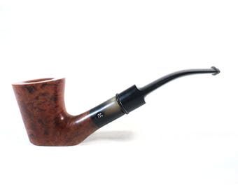 French Butz-Choquin Briar Wood Pipe, Collectible De Luxe Classic Flat-Bottom Straight Flammed Waxed Smoking Pipe