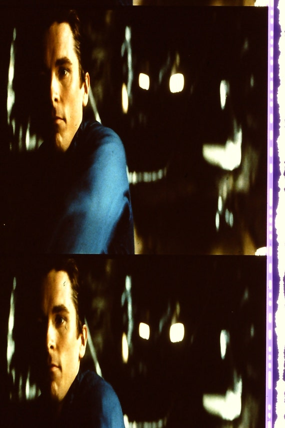 Batman Begins - Christian Bale Michael Caine 1 Strip of 5 35mm Unmounted film cells ONLY 1 STRIP AVAILABLE of each film cell