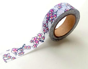 Gold foil cherry blossom Washi Tape