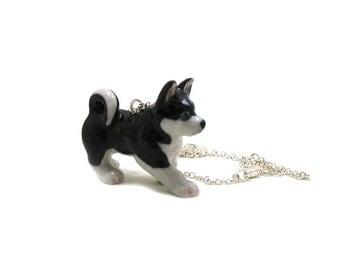 Siberian Husky Dog Necklace, Charm Necklace, Husky Charm Jewelry, Fur Baby Charm, Husky Jewelry, Dog Jewelry, Dog Necklace, Dog Lover