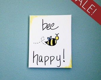 Bee Happy   Wrapped Canvas Painting