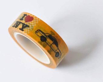 New York Taxi Cab Adhesive Washi Tape 15mm wide x 10m long No. 12426