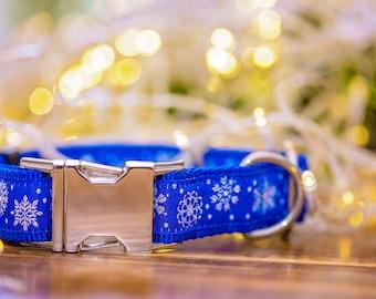Snowflake Dog Collar / Christmas Dog Collar / Holiday Dog Collar / Dog Collars Australia / Xmas