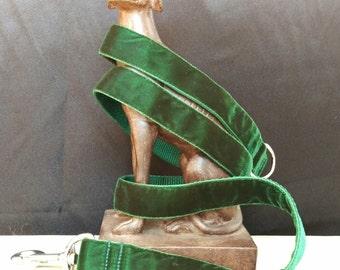 Dog Leash - Velvet - Forest Green