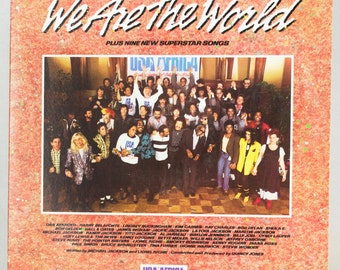 We Are The World - USA for Africa Album Various Artists Bruce Springsteen Chicago Columbia Records 1985 Original Vintage Vinyl Record LP