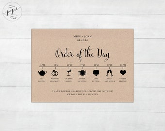 Image Result For Order Of Service Wedding Template