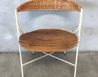 Rare Mid Century Iron Chair by Arthur Umanoff (JS7YSZ)