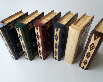 Big,huge Secret,magic,mystory,handcarved wooden,magic puzzle book box with secret compartment inside surprise,wooden box