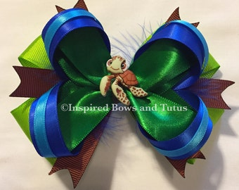 Finding Dory Squirt Inspired Hair Bow