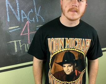 Vintage 1994 John Michael Montgomery Tour Concert Shirt Nice Man L T-Shirt