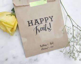 Wedding Favor Bags - Happy Trails! - Favor Bags - Custom Printed on Kraft Brown Paper Bags
