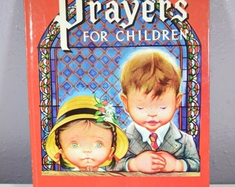 Prayers For Children Large Golden Book 1974 Western Publishing Company Children's Religious Book Religious Gift