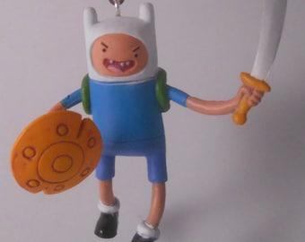CUSTOM Christmas Ornament Made From Adventure Time Battle FINN Cartoon Jazwares