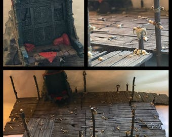 Games Workshop Escape from Goblin Town Walkways and Throne Terrain