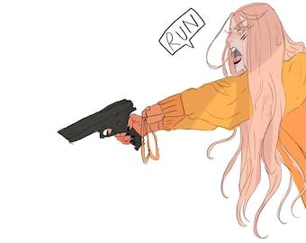 Fia with a Gun