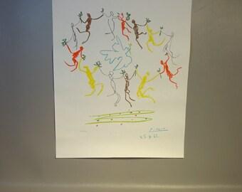 Picasso Poster Limited Edition 145/250 Plate Signed La Ronde de la Jeunesse---