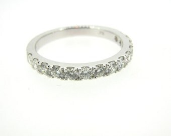 14K White Gold and Diamond Anniversary Band