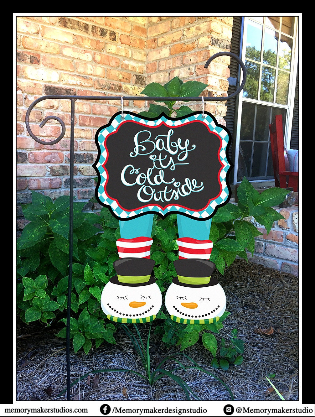 Winter Garden Flag Christmas Yard Flag Snowman Garden Flag