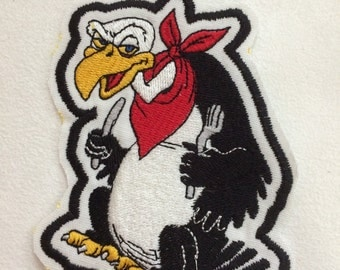 A Hungry Buzzard Embroidery Patch