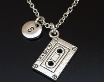 Cassette Necklace, Cassette Charm, Cassette Pendant, Cassette Jewelry, Cassette Tape, Retro Necklace, Retro Jewelry, 80s Party, Nostalgic