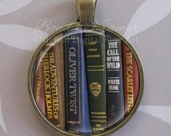 Book Lover Pendant ~ gift idea for avid reader ~ Bibliophile ~ Librarian