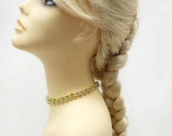 Long 17 inch Blonde French Braid Wig. Elsa Style Costume Wig. Cosplay Wig. [16-114A-Ice-613]