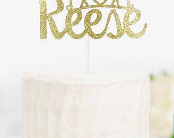 Princess Name Cake Topper, Crown Name Cake Topper, Tiara Name Cake Topper, Princess Cake Topper, Gold Name Cake Topper