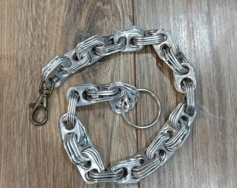 "Soda Pop Top Wallet Chain - 17"" - Brass Swivel Spring-loaded Clip Style"