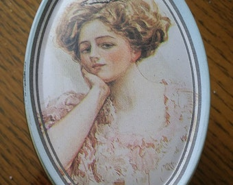 Tin - Beautiful Lady Collectible