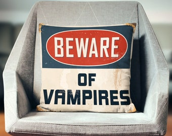 Vampire Decor | Vampire Gifts | Vampire Pillow | Vampire Diaries | The Originals Pillow
