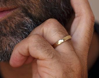 mens wedding ring , unique mens wedding band , mens rustic wedding band , classic mens wedding ring , yellow gold men wedding band