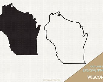 Wisconsin Vector, State Clipart, WI Clip Art, Wisconsin SVG, State PNG  (Design 13708)
