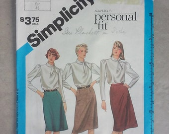 Vintage 1980s Skirt Sewing Pattern - Size 14 (Medium) - Original with Envelope