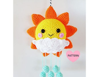 Sunshine Mobile PDF Pattern, crochet, amigurumi