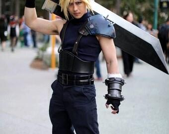 Final Fantasy 7/ Cloud Strife Shoulder Armor/ Gauntlet / Soldier Belt / Cosplay Costume