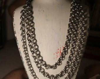 3-Tier Chain Mail Necklace