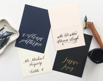 Handwritten Custom Calligraphy Placecards-Wedding Place Cards-Escort Cards-Calligraphy Place Cards