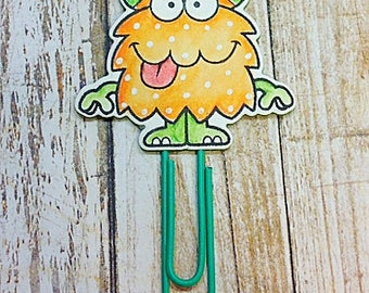 Yellow Monster Paper Clip