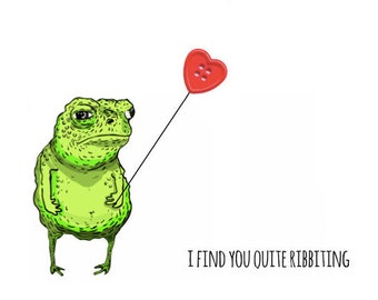 I Find You Quite Ribbeting Valentine's Day Card