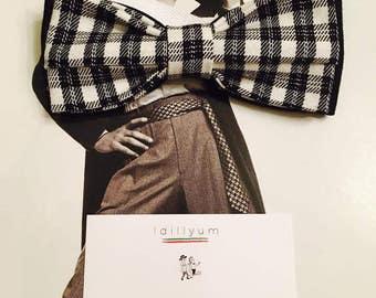 PAPILLON IDILLYUM, quadri bianco e nero, Bow Tie Men Farfallino Uomo Regolabile Wedding Dresses