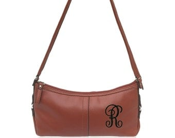 """Personalized Rust Red """"Vintage"""" Purse"""