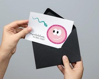 Congratulations, You Made A Baby! Card
