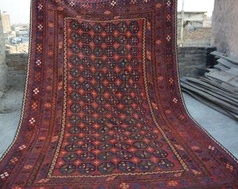 12'7 x 7'10 Foot Semi Pro Antique Afghan Handmade Ghalmori Area Kilim Rug Maimana Area Kilim Rug Rugs Rugby Large Kilim Rug