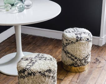 5 moroccan stools, lot 5 tabourets marocain, pouf marocain, moroccan ottoman, moroccan stool, tapis berbère, moroccan rug