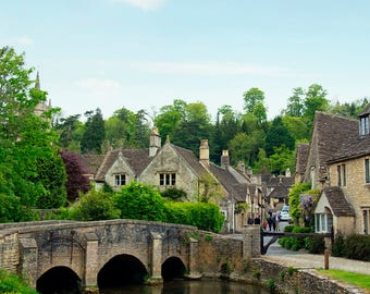 Castle Combe, England Photo, The Cotswolds, Large Travel Print, Historic England, English Countryside, Office Photo Art, Travel Nursery